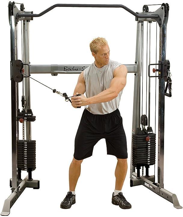 Stazione allenamento coi cavi - palestra gym homegym - allenamento pesi by bodysolid GDCC-200