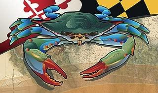 Citizen Pride Maryland Blue Crab Door Mat by Joe Barsin, 30x18