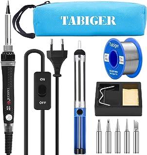 Kit del Soldador Tabiger, Soldador Electrico con Temperatura