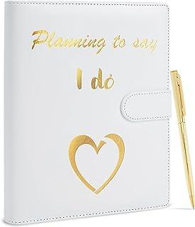$28 » Wedding Planner Premium Wedding Book Planner Elegant Wedding Planning Binder Faux Leather Wedding Organizer and Planner by...