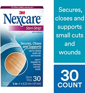 Nexcare Steri-Strip Skin Closure, 3 Inch X 4 Inch, 30 Pack