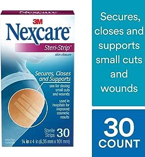 Nexcare Steri-Strip Skin Closure, Hypoallergenic, 3 Inch X 4 Inch, 30 Pack