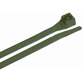 Gardner Bender 42-311R 100% Recycled Cable Tie, 11 inch, 50 lb, Electrical Wire and Cord Management, Nylon Zip Tie, 75 Pk, Dark Green