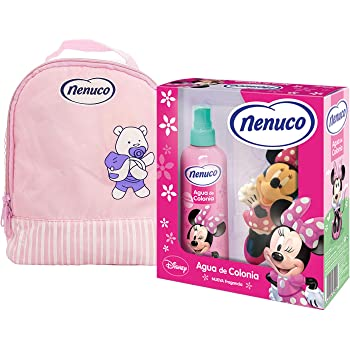 Nenuco Pack Regalo Bebé Mochila de Paseo Rosa con Agua de Colonia ...