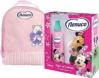 Nenuco Pack Regalo Bebé Mochila de Paseo Rosa con Agua de Colonia Minnie y Muñeco de Regalo