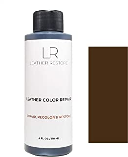 Leather Restore Leather Color Repair, Dark Brown 4 OZ - Repair, Recolor and Restore Couch, Furniture, Auto Interior, Car Seats, Vinyl and Shoes