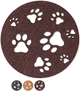 Dulce Cocina iLove Paw Coasters Large Set of 6 Chocolate - Gift Worthy