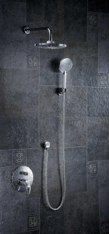 Chrom poliert Luxus Wandmontage Regen & Wasserfall Dusche Wasserhahn Set mit Handbrause Einhand Kostenloser Versand FS-1354, Wei