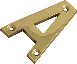 Forge Numeral Letter A - Brass Finish 75mm (3 in)