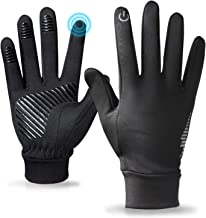 Winter Gloves for Men and Women,Touchscreen Running Gloves for Men Cold Weather Black Warm Light Weight Windproof Gloves f...