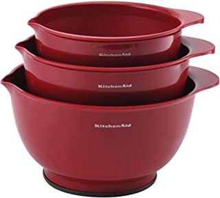 KitchenAid Classic Mixing Bowls, Set of 3, Empire Red