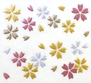 Japanese Kin-makie Sticker +Attoo Cherry Blossom Petals