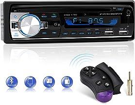 Autoradio Bluetooth, CENXINY FM 4x65W Radio Para Coche Llamadas Manos Libres Control Remoto Radio stéreo de Coche con Reproductor de MP3 USB y Bluetooth 4.2, soporte IOS y teléfono Android