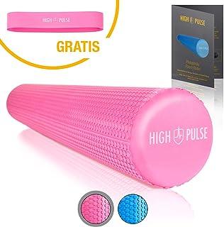 High Pulse - Rodillo para pilates, incluyepóster con ejercicios - El rodillo de espuma multifuncional es ideal para el fortalecimiento muscular, fitness y masaje de las fascias