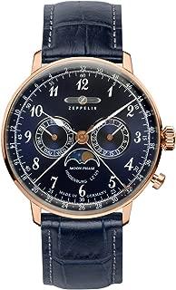 Hindenburg Swiss Quartz Moonphase Calendar Dress Watch 7038-3