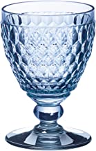 Villeroy & Boch Boston gekleurd wijnglas, kristalglas, blauw, 12 cm