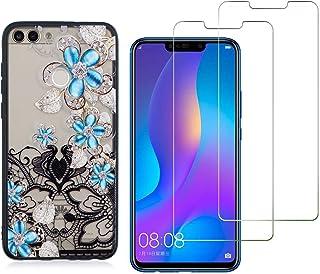 comprar comparacion YKTO Cristal Templado + Funda para Huawei P Smart/Enjoy 7S 5.65 Pulgadas Fina 3D Moda Dibujos Antigolpes Caso 2 Piezas H...