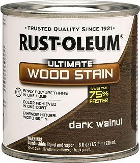 Rust-Oleum 260363 Ultimate Wood Stain, Half Pint, Dark Walnut
