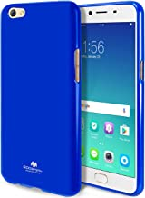 GOOSPERY Marlang Marlang Oppo R9S Case - Navy Blue, Free Screen Protector [Slim Fit] TPU Case [Flexible] Pearl Jelly [Protection] Bumper Cover for Oppo R9S, OPPOR9S-JEL/SP-NVY