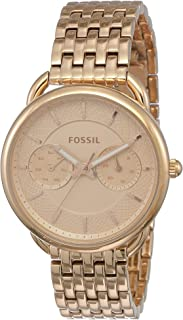Fossil Womens Tailor Quartz Stainless Steel Dress Watch, Color: Rose Gold-Tone (