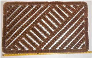 Coconut Fiber Works Scraper Door Mats -Handmade Dimensions : 17.8