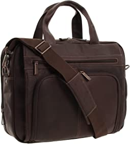 "Kenneth Cole Reaction ""Out of the Bag"" - 5 to 6 1/2"" Double Gusset Expandable Top Zip Portfolio Computer Case"