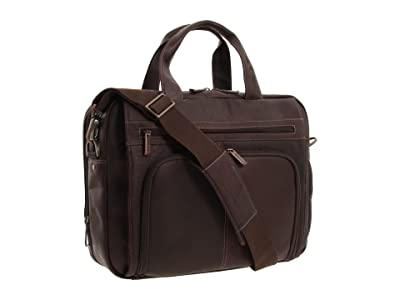 Kenneth Cole Reaction Out of the Bag 5 to 6 1/2 Double Gusset Expandable Top Zip Portfolio Computer Case (Dark Brown Full-Grain Leather) Computer...