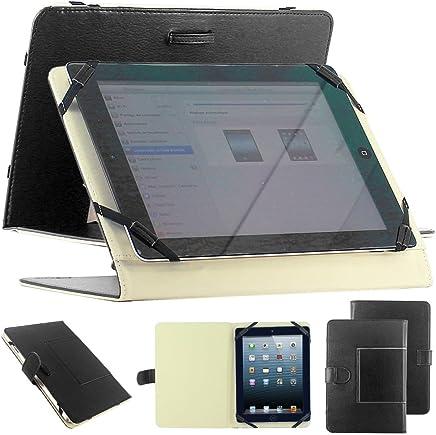 """ebestStar - Coque Universel Tablette 10 Pouces Etui Housse PU Cuir Universel Support caré pour Tablettes 10"""" 10 Pouces, 18,2 x 27,5 cm, Noir [Appareil: (230-265) x (140-182) x 20mm,"""