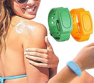 Portable Adult Kids Hand Sanitizer Dispenser, 2 Pcs Silicone Refillable Wristband, Wearable Soap Dispensing Bracelet for S...