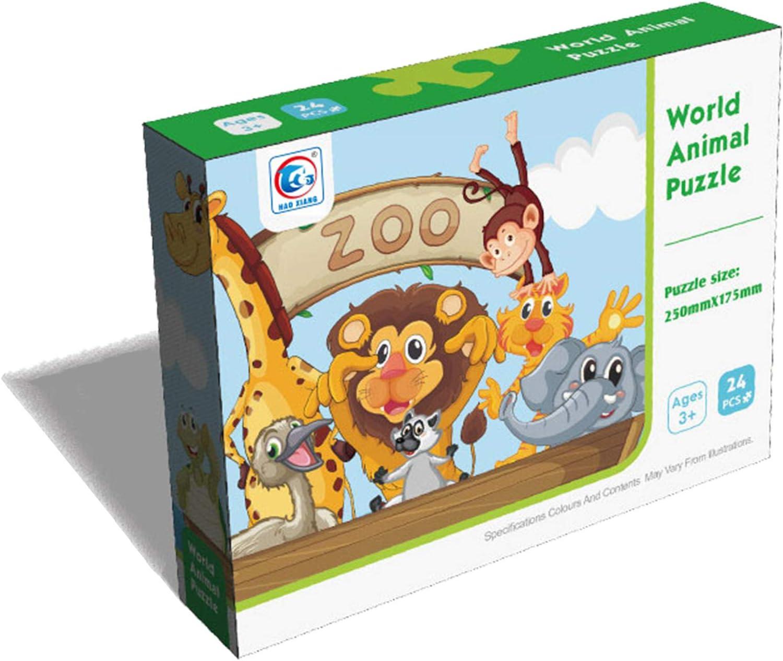 Puzzle Infantil 24 Piezas KING JUGUETES Puzzle Animales del Zoo en Barco Juego Educativo y Creativo Rompecabezas para ni/ños y ni/ñas a Partir de 3 a/ños