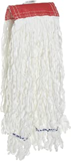 Rubbermaid Commercial 24 Oz Clean Room String Wet Mop Head, 5 Inch Headband, White (FGT30100WH00)