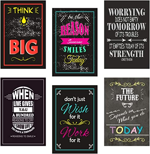 Sehaz Artworks Quotes & Motivation Matte Print Posters for Home - Dummy-Poster-Set (1009-MI)