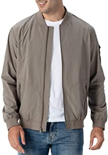 Men's Lightweight Bomber Jacket Causal Varsity Flight Windbreaker Track Jacket