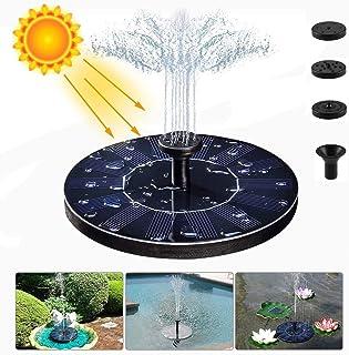 meidon Solar Fountain Water Pump for Bird Bath, New Upgraded Mini Solar Powered Fountain Pump