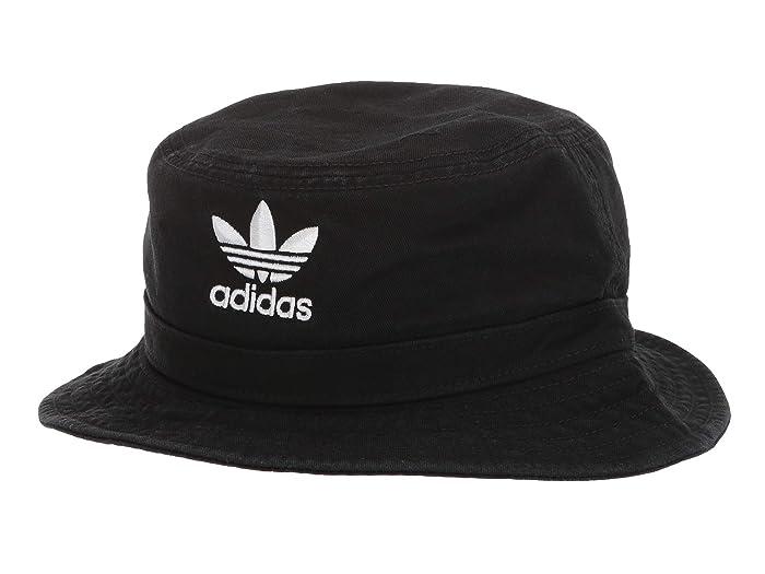 adidas Originals  Originals Washed Bucket (Black/White) Caps