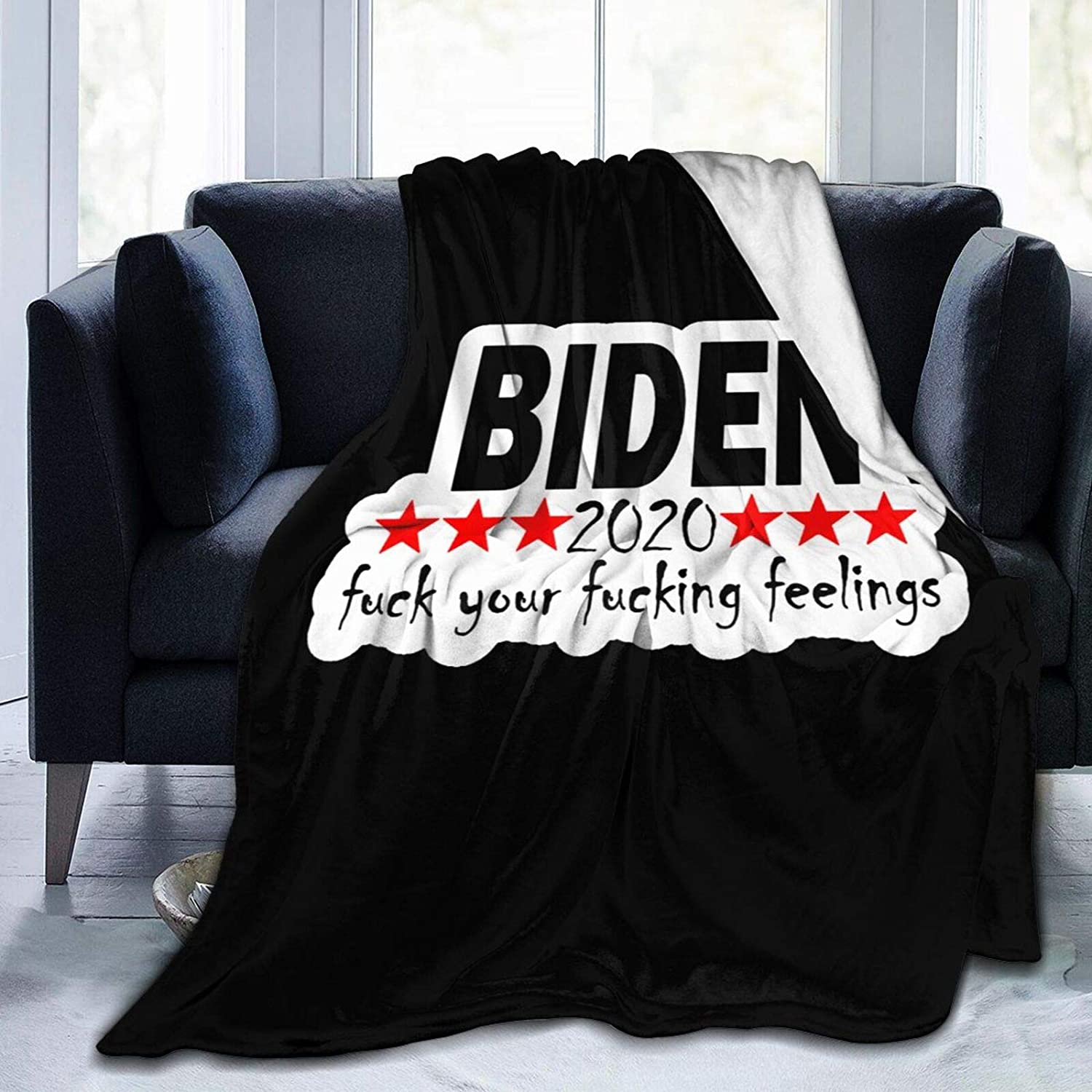 Fuck Biden Blanket Soft and Super Comfortable Micro Wool Limited Special Price Ranking TOP5 Bl