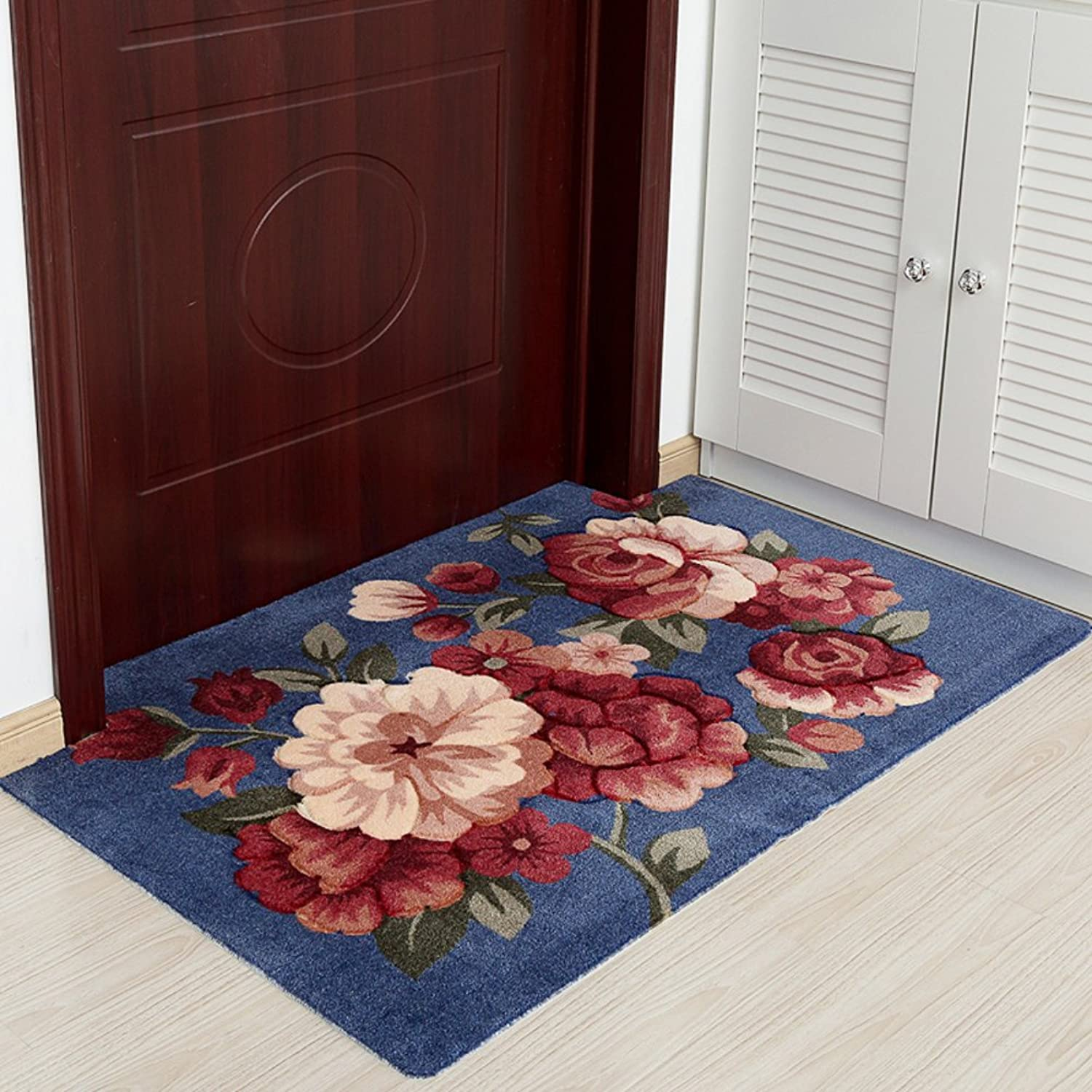 GUOSHIJITUAN Anti Slip Modern Carpet,Doormat Carpet for Hall Bedroom Living Room Rugs-E 80x120cm(31x47inch)