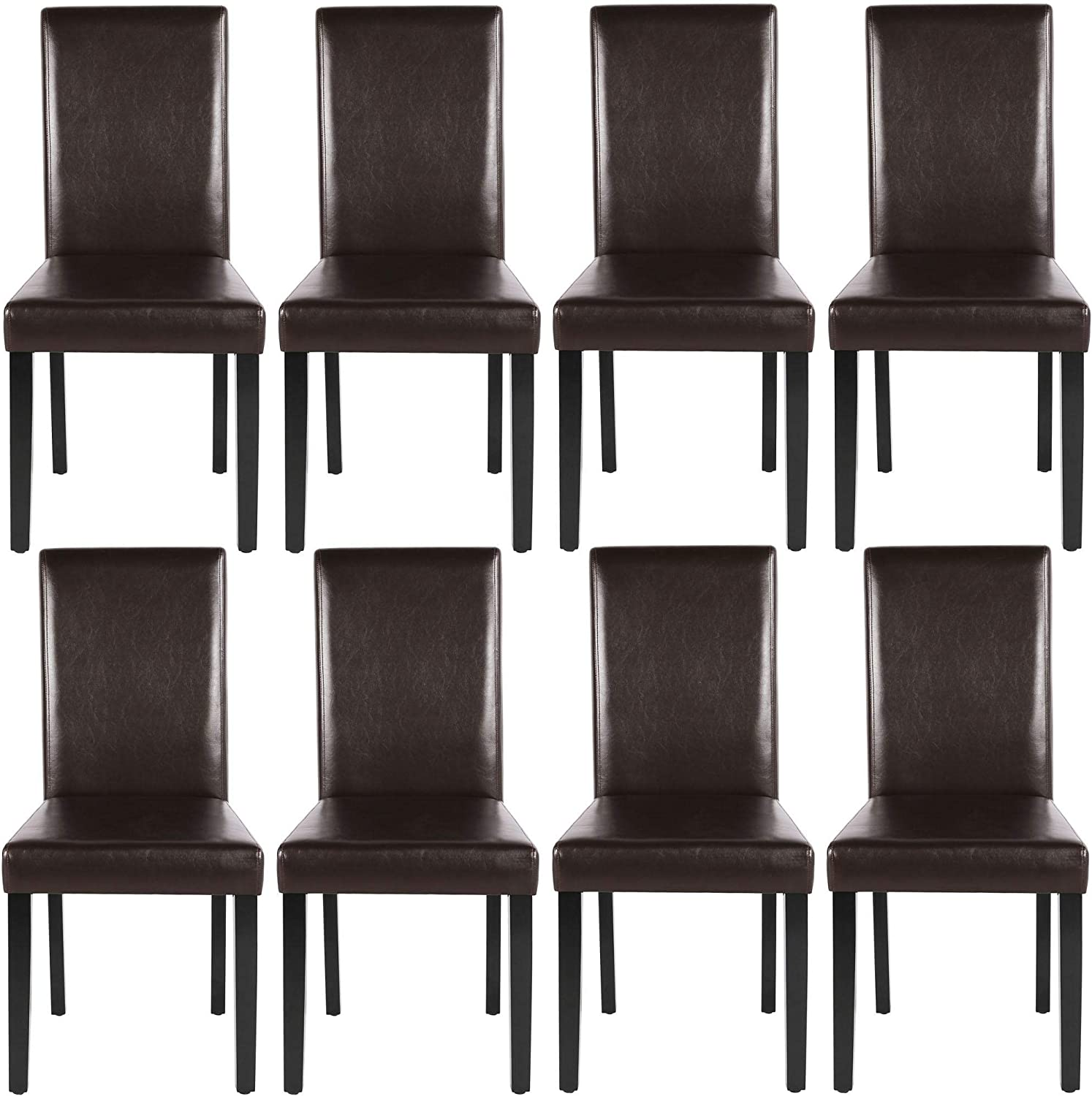 YAHEETECH Dining Chairs 舗 Side お気に入 PU Waterproof Cushion with S