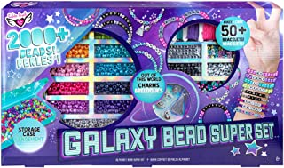 Fashion Angels Galaxy Bead Super Set (12679), 2,000+ Beads with Keeper Case, Makes 50+ Bracelets, Alphabet Charms, Pearles...