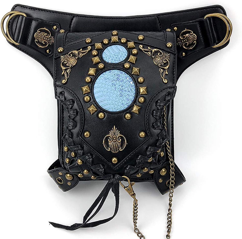 Punk Handtasche für für für Frauen Männer, Retro Steampunk Gothic Leder Vintage Schulter Pack Leder Größe Packs Tasche, Kette Beinbeutel B07Q6XVMGX  Überlegen a6463b