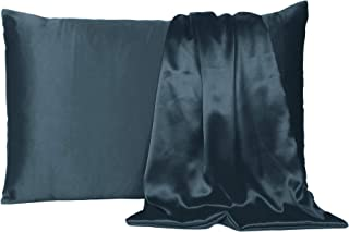 """Oussum Satin 300 TC Pillow Cover (Castlerock Grey_20""""X26"""")"""