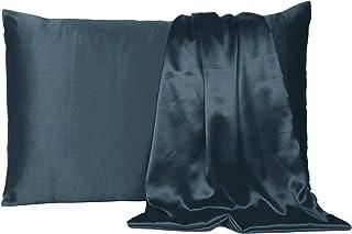 Oussum Satin 300 TC Pillow Cover (Castlerock Grey_Queen)