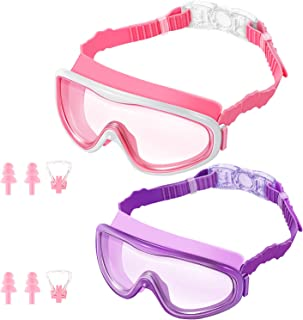 KNGUVTH Kids Swim Goggles, Pack of 2 No Leaking Swimming...