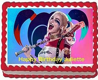 Harley Quinn Edible Cake Image 1/4 sheet