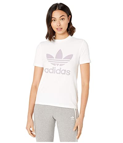 adidas Originals Trefoil Tee (White/Bluebird) Women