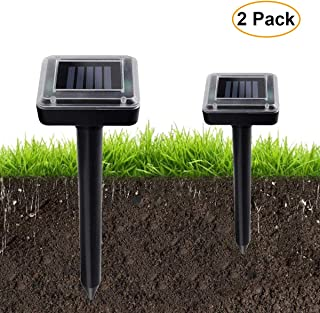 Aogist 2 Pack Upgrade Solar Spikes,Waterproof Outdoor Solar Powered Spikes for Lawn Garden Yard