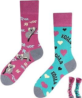 TODO COLOURS Calcetines casuales Mix & Match – Koala La – Multicolor, divertidos, calcetines coloridos para individualistas