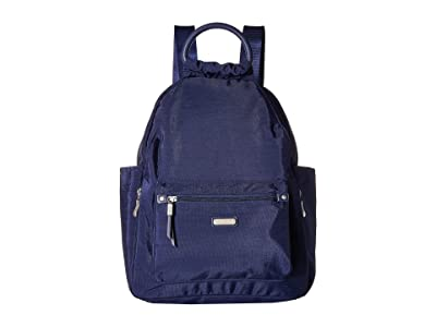 Baggallini New Classic Heritage All Day Backpack with RFID Phone Wristlet (Navy) Backpack Bags