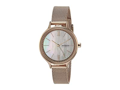 Skagen Anita Three-Hand Watch (SKW2865 Rose Gold Stainless Steel Mesh) Analog Watches