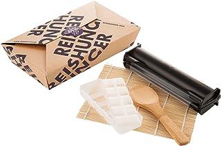 Reishunger Sushi Equipment Box (con máquina para hacer sushi de Ø 3,5 cm) Para preparar maki, sushi inverso y nigiri en casa. Perfecto también como regalo